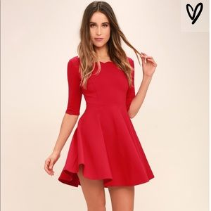 Lulus Tip the Scallops red dress